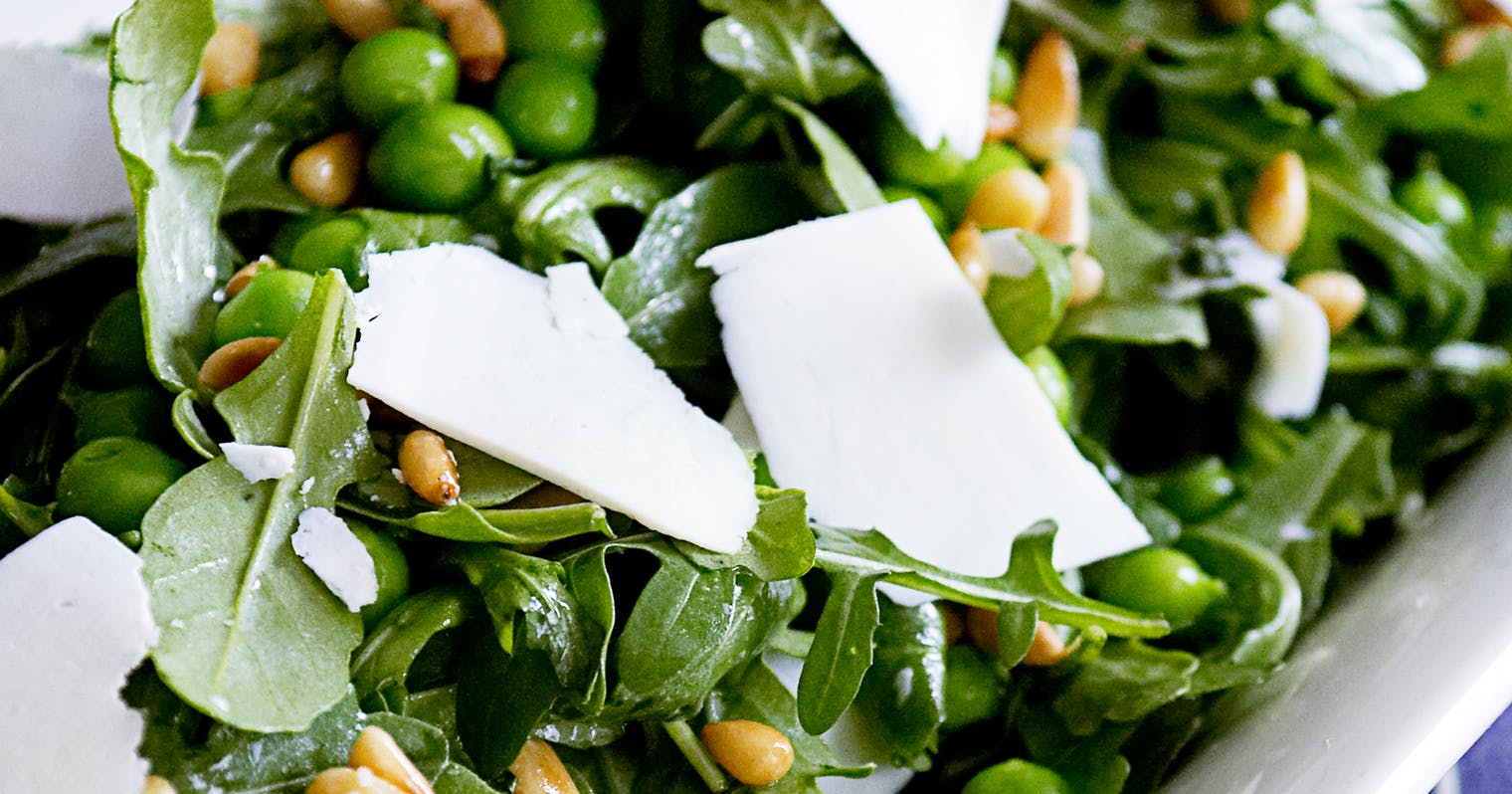 Best Arugula Salad with Peas, Pine Nuts, and Ricotta Salata Recipe ...