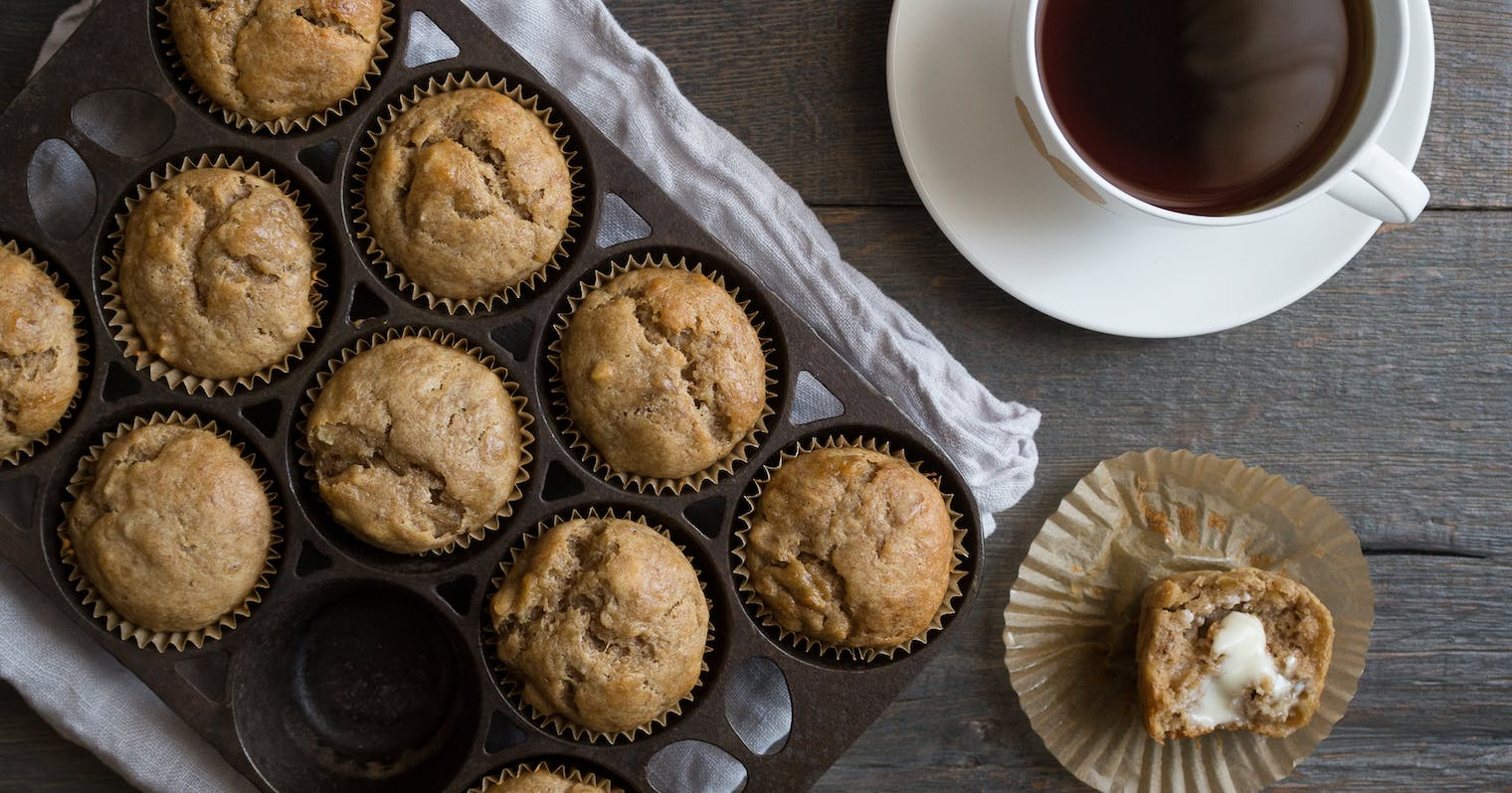 Best Banana Muffins With Sour Cream And Walnuts Recipe