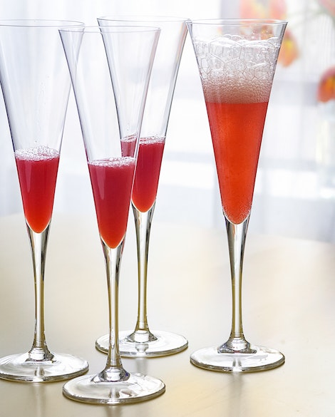 Blood Orange Mimosas with Prosecco