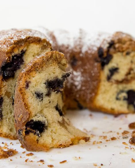 Blueberry Bundt Streusel Cake Recipe