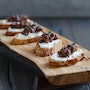Goat Cheese + Fig-Olive Crostini