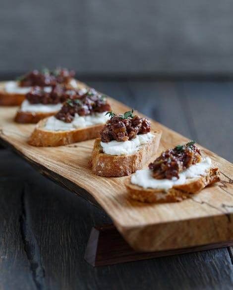 Crostini with Goat Cheese and Fig-Olive Tapenade