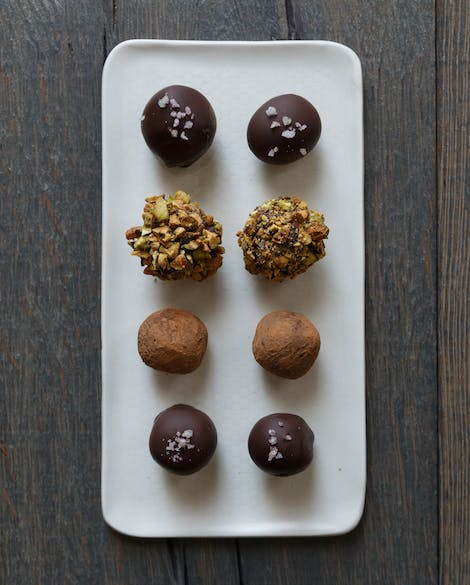 Chocolate Grand Marnier Truffles with Pistachios