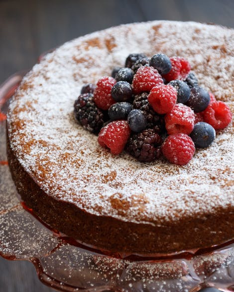 Gluten-Free Almond Cake with Lavender Honey