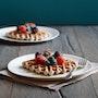 Gluten-Free Blue Cornmeal Waffles