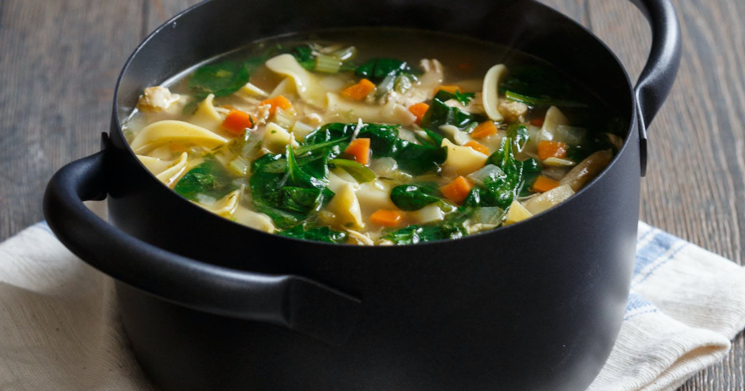 Best Homemade Chicken Noodle Soup With Spinach Recipe The Yellow Table
