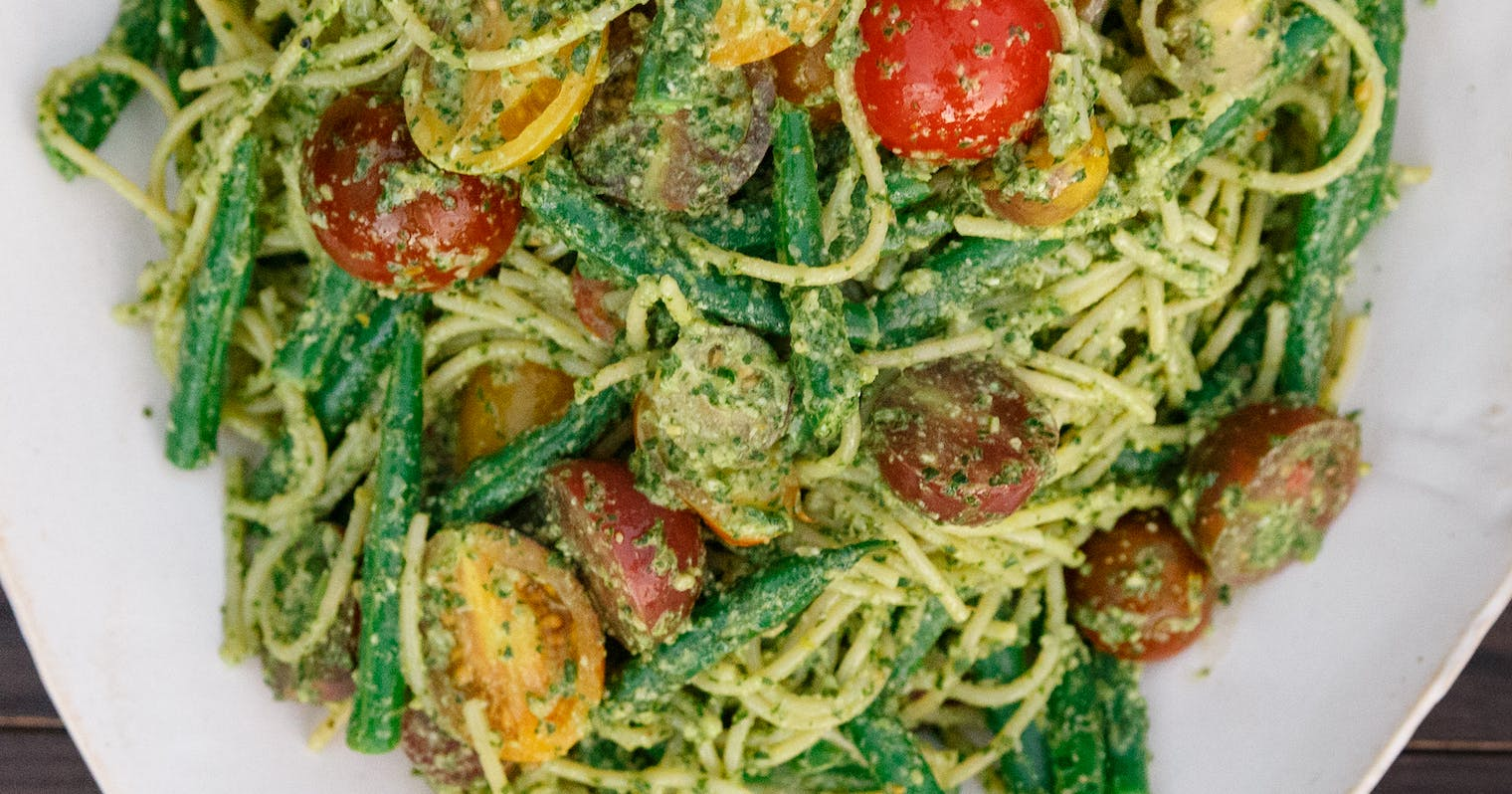 ... Spaghetti with Tomatoes and Haricots Verts Recipe - The Yellow Table