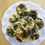 Bacon, Cheese + Spinach Frittatas