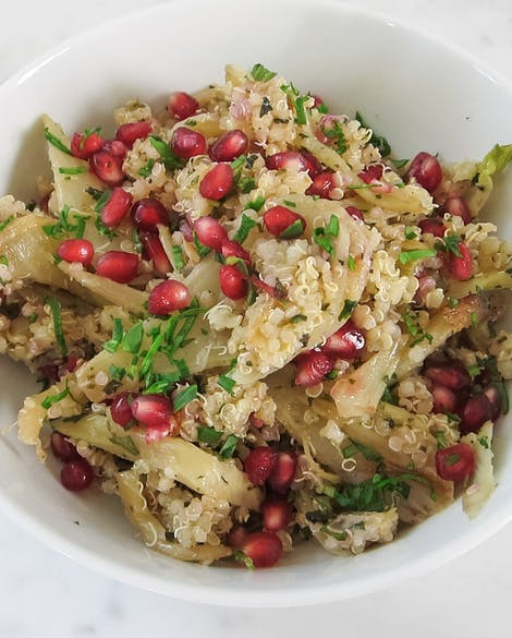 with Caramelized Fennel and Pomegranate Seeds