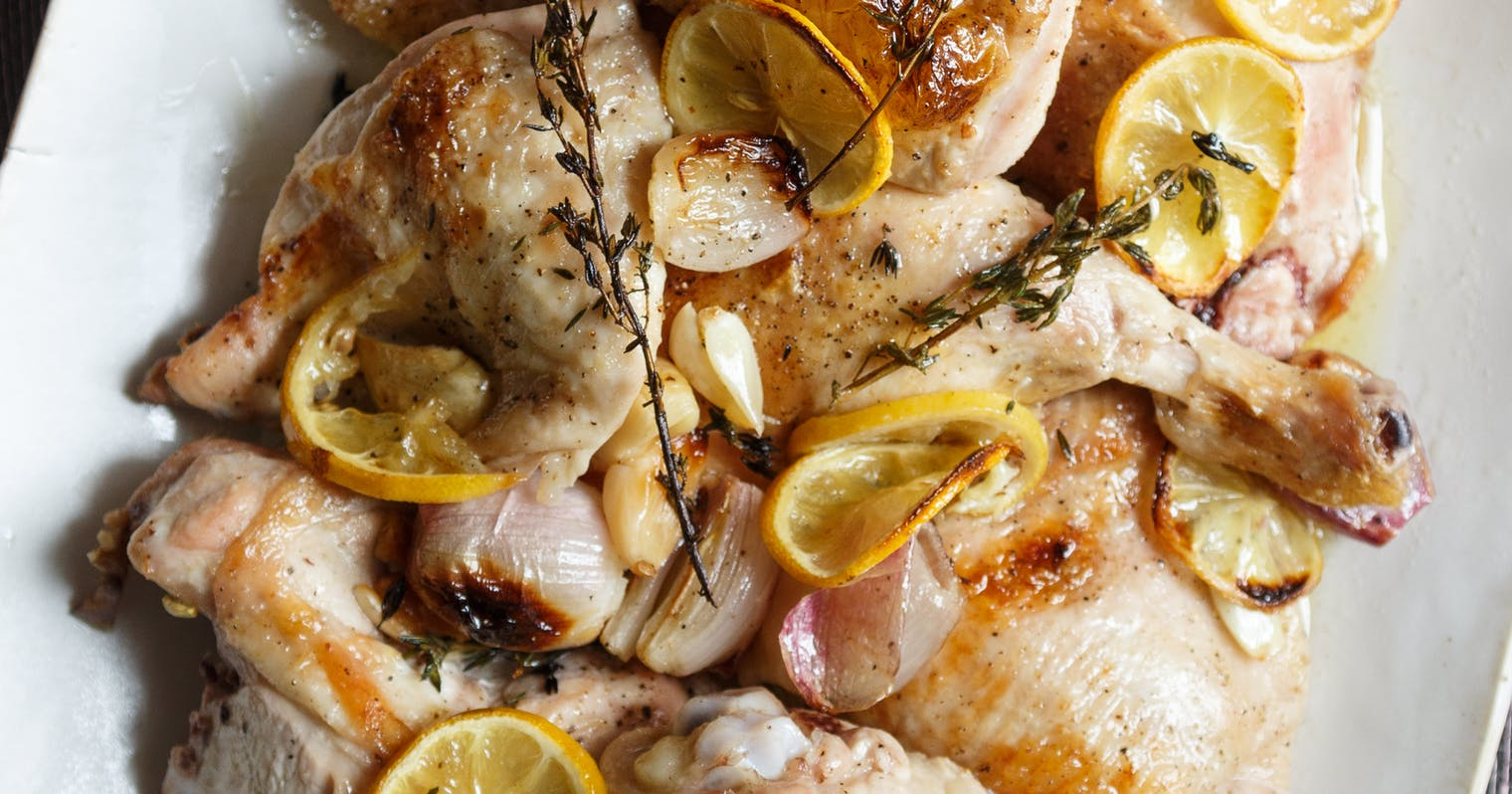Best Roast Chicken with Lemon, Thyme, and Shallots Recipe - The Yellow ...