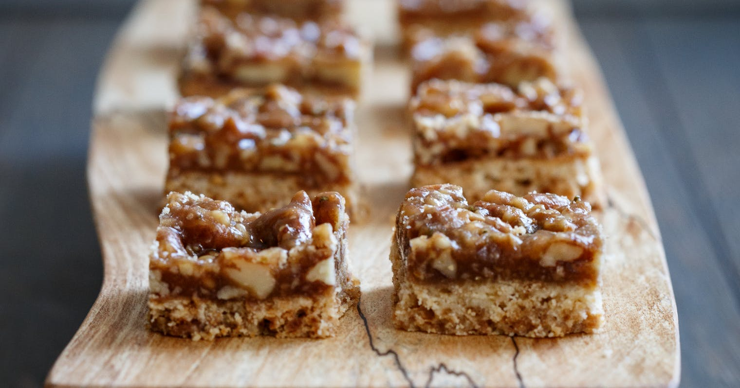 Best Salted Butter Pecan Shortbread Squares Recipe The