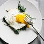 Eggs Over-Easy + Sauteed Baby Kale
