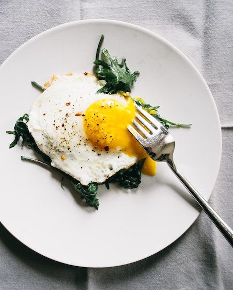 Sauteed Baby Kale with Eggs Over-Easy