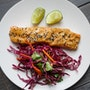 Sesame-Miso-Glazed Salmon