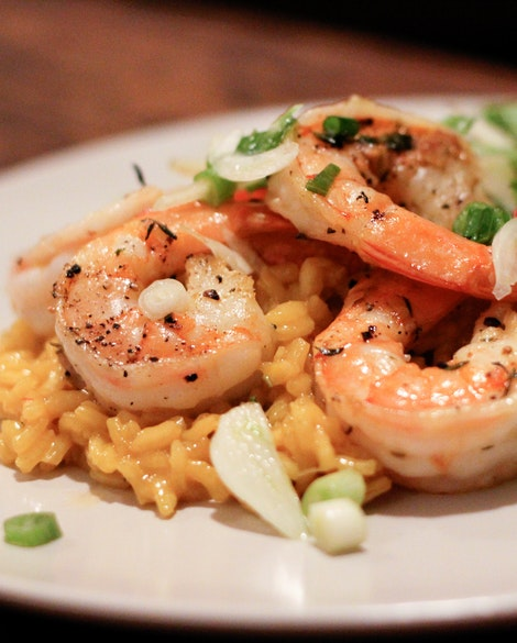 Shrimp and Saffron Rice with Fennel Salad