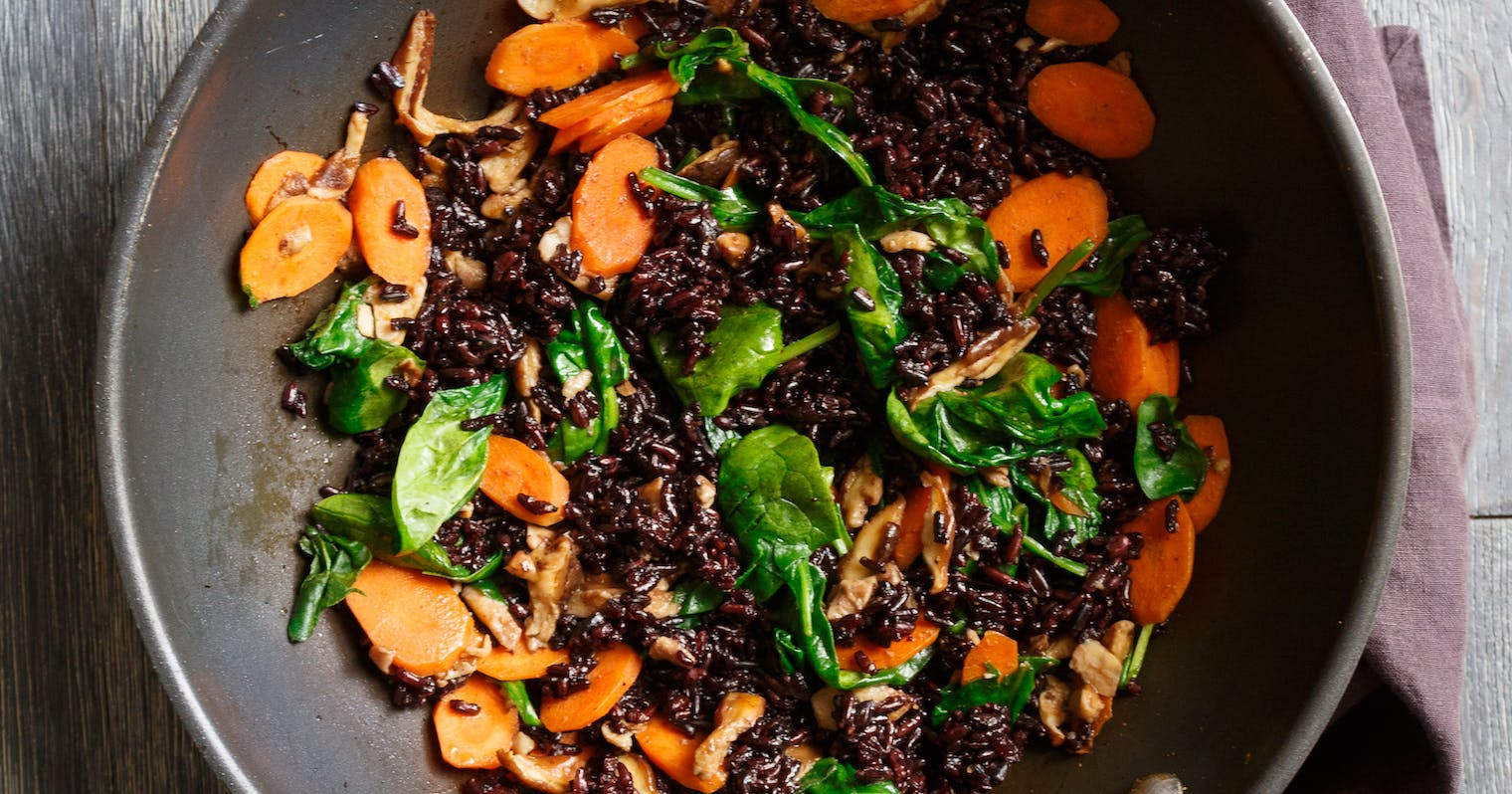 Best Quick Stir Fry With Black Rice Recipe The Yellow Table