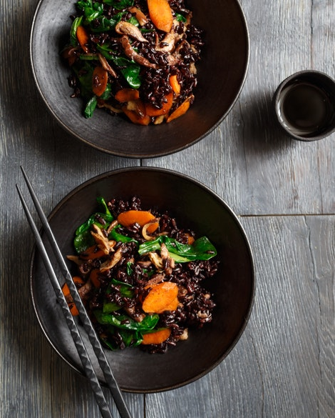 Quick Stir Fry with Black Rice