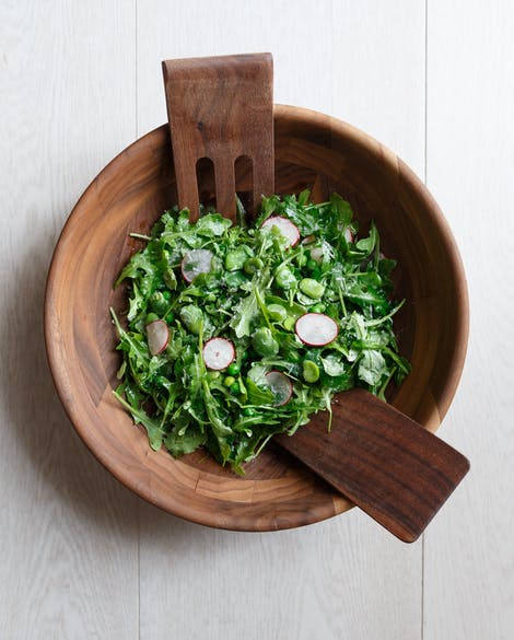 Summer Farmers Market Salad with Fava Beans and Peas