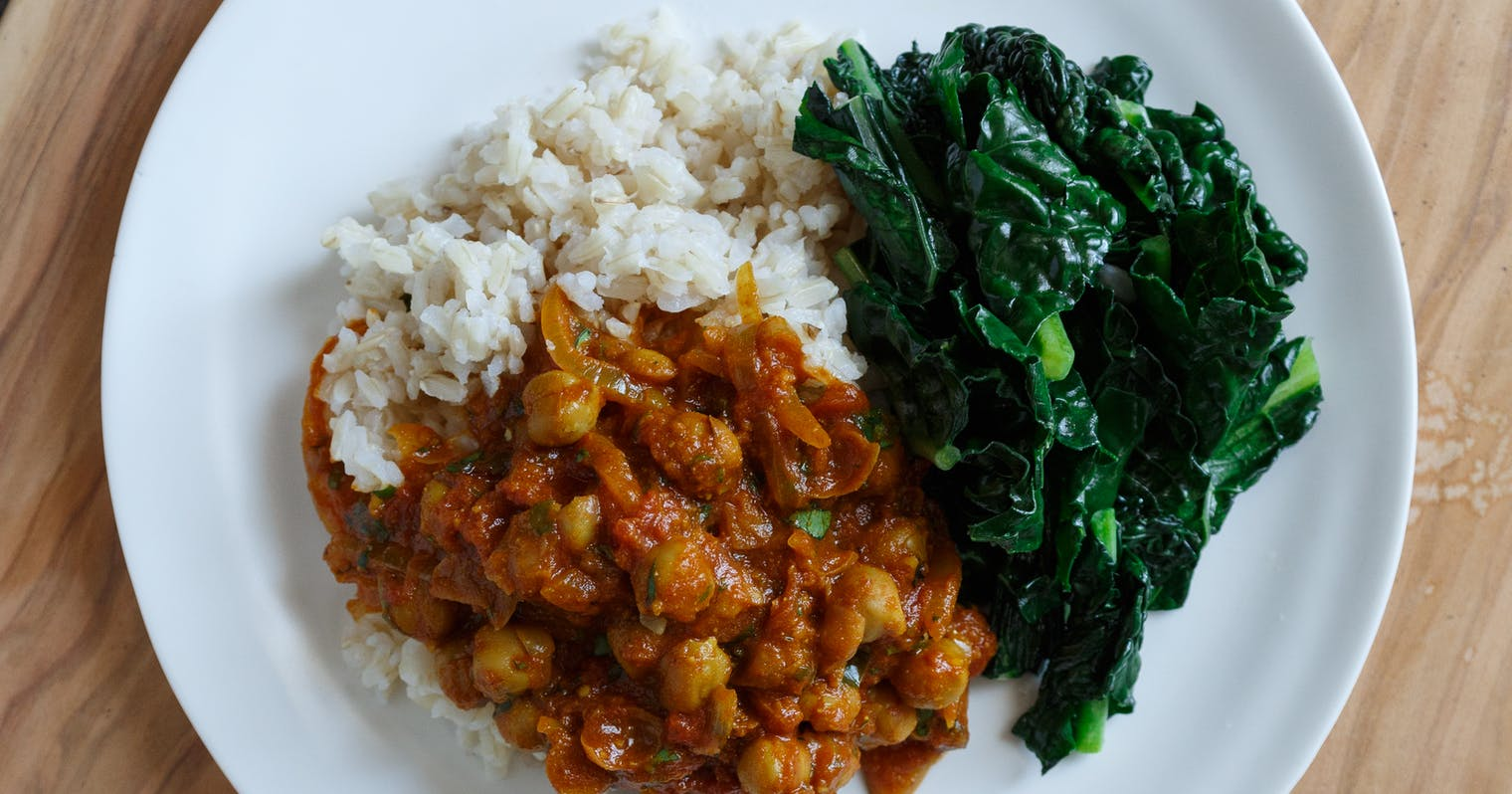kale and chickpeas curry