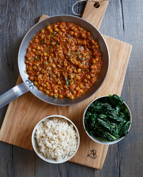 Tomato Chickpea Curry with Kale