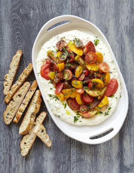 Whipped Herb Ricotta Summer Tomatoes