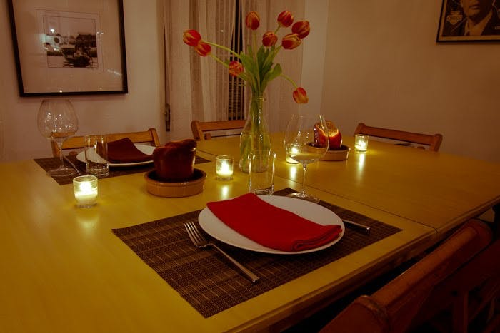 Valentine S Day Dinner For Two The Yellow Table